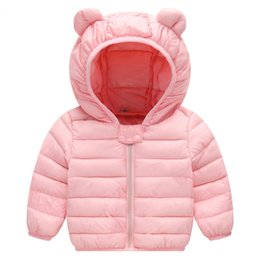 Otoño del bebé del invierno capa del algodón linda chaqueta con capucha chaqueta informal activa de los niños de moda ropa exterior de juego de los niños Ropa de deporte desde fabricantes