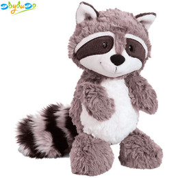 raccoons toys Promo Codes - Gray Raccoon Plush Toy Lovely Raccoon Cute Soft Stuffed Animals Doll Pillow for Girls Children Kids Baby Birthday Gift 25cm
