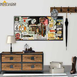 Astratta enorme Stile Graffiti Wall Art su tela di poster e stampe su tela pittura decorativa dell'immagine per Living Room Home Decor da biancheria da letto floreale pittura ad olio fornitori