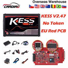 Programador online-Rojo KESS V2.47 V5.017 Sin Tokens ECU Chip Tuning Maestro ECU programador KESS V2 Manager Tuning Kit Para Coche / Camión Envío Gratis