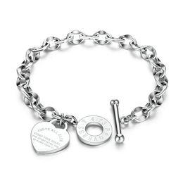 2019 braceletes de ouro branco 24k Aço Inoxidável Designer Luxo amante da jóia Mulheres Silver amor pulseira pulseira amor do ouro pulseiras Coração Presente da menina Para