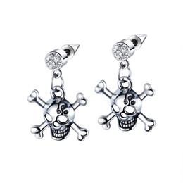 La dernière tendance des bijoux en acier inoxydable personnalité du crâne boucles d'oreilles hommes Boucles d'oreilles en cristal de haute qualité 3-GE506 ? partir de fabricateur