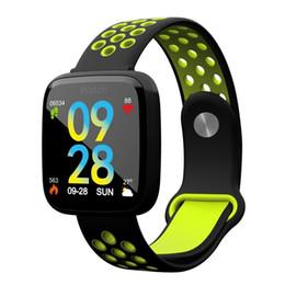 Sportivo sottile orologio online-F15 Slim Smart Watch con cardiofrequenzimetro cardiofrequenzimetro sportivo Fitness Smartwatch per Iphone Iphone Android