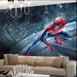 Dimensione rullo carta da parati online-Spiderman Kids Bedroom Wallpaper Rotolo di grandi dimensioni Foto Murales 3D Sfondi murali per soggiorno Home Decor personalizzato