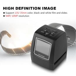 2019 definição do cartão usb Scanner de Filme de Alta Definição 2.36 '' TFT LCD de Tela 5MP / 10MP USB 135 / 35mm Suporte de Scanner de Filme Negativo SD Cartão MMC definição do cartão usb barato