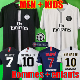 Jerseys de fútbol para hombres online-Top Tailândia qualidade AIR PSG JORDAN 3RD third camiseta de fútbol 2019 camisa Paris Saint Germain NEYMAR JR MBAPPE soccer jerseys camisa cavani Survetement futebol kit CHAMPIONS camisa de futebol