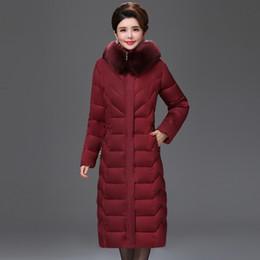 Avrupa tarzı 2019 Yüksek Kalite Kış Ceket Kadınlar X-uzun Kürk Yaka Kapşonlu Kadın Artı Boyutu 5XL 6XL Ceket Sıcak Bayan Parka cheap womens european winter coats nereden kadınlar avrupa kışlık palto tedarikçiler