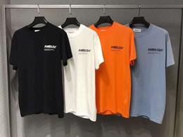 Materialhemd stil online-Mens T-Shirt Mode Straße Lässig Top Kleidung Grundlegende Stil Brief Drucken Lose Baumwolle Komfort Qualität Material Sommer Kurzarm
