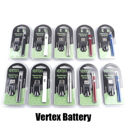 Caricabatteria della cartuccia online-Nuovi variabile Preriscaldare batteria 350mAh Blister Vertex preriscaldamento Tensione Kit penna VV Battery Charger Vape per 510 Discussione CE3 Cartridge Carrelli