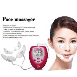 gesichtsvorhang Rabatt Neu mit 4x Massagepad elektronisches Instrument Schönheit Gesicht Hautpflege Maschine Abnehmen Massagegerät Massagegerät