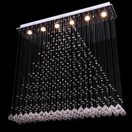 licht modernen minimalistischen kristall Rabatt NEW Bestseller Moderne Minimalist LED-Vorhang-Luster Kristall-Kronleuchter Kristall-Kronleuchter Licht Wohnzimmer Lights Bar