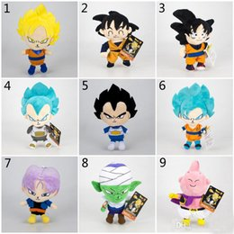 stuffed dragons Coupons - 16-20cm Dragon Ball Z Plush Toys 2019 New Cartoon Kuririn Vegeta Goku Gohan Piccolo Beerus Stuffed Dolls Kids Christmas Gift toy