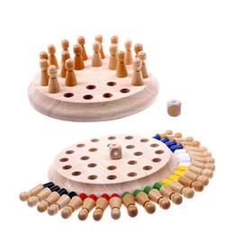 2019 bastoni di corrispondenza all'ingrosso I bambini all'ingrosso della memoria giocano il giocattolo del gioco degli scacchi del capretto scherza i giocattoli educativi del blocchetto di Montessori i bambini in anticipo educativi Favore di partito