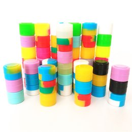 Canada Contenants de cire de silicone dab pots mini-boîtes 500pcs / lot 2 ml de pots de silicone antiadhésifs dab contenant de cire en silicone pour contenants d'huile dabs Offre