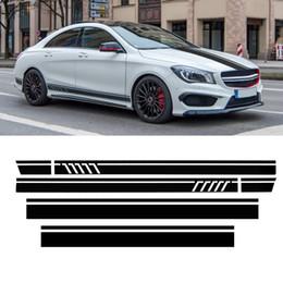 2020 pegatina amg mercedes Car Racing Door Roof Sport Side Stripes Skirt Sticker para Mercedes para Benz W117 C117 X117 CLA -AMG rebajas pegatina amg mercedes