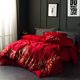 Deutschland 60er Jahre ägyptische langstapelige Baumwolle Bestickte Comfort-Bettwäsche-Sets RUIYEE Marke Kingsize-Bettdecke mit Bettlaken-Kissenbezug Versorgung