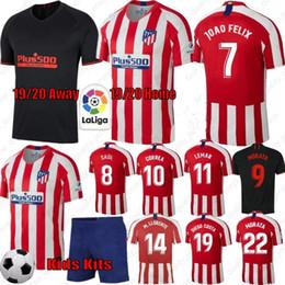 19-20 # 7 JOAO FELIX Soccer Jerseys Ligue des Champions Atletico Madrid 6 KOKE 8 SAUL 10 CORREA 5 THOMAS 11 Chemises LEMAR football ? partir de fabricateur