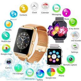 SmartWatch мужчины Z60 стали smartwatch поддержка SIM/TF карты смарт-электронные наручные часы ПК DZ09 для Android от Поставщики цена мобильного телефона