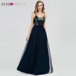 2019 vestidos vitorianos azuis curtos Vestidos de noite com lantejoulas Longo Sempre Bonita A Linha de Decote Em V Sem Tule Elegante Vestidos de Noite Para As Mulheres Vestido Noche Elegante