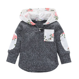2019 hoodies azuis do golfinho Hoodies crianças Camisola Do Bebê Meninos Meninas Xadrez Floral Manga Longa Com Capuz Roupas de Primavera Outono Moletom Com Capuz T Camisa Roupas Childern Z01