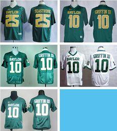 equipes de futebol da faculdade Desconto jerseys verde Baylor 10 Robert Griffin III Colégio Jerseys Futebol Americano 25 Lache Seastrunk Jersey equipe cor todas as costuras