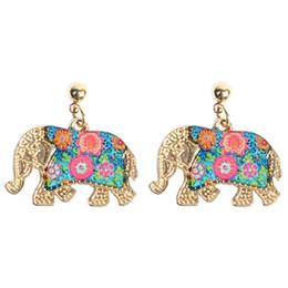 Deutschland Mode Frauen mehrfarben Kristall Anhänger Halskette Überzug Kette retro Thailand Elefant Tier Anhänger Partei Schmuck Geschenk Versorgung
