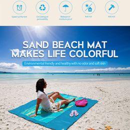latest outdoor beach picnic camping mat home travel beach mat outdoor carpet picnic magic pad 2m*2m blue green red