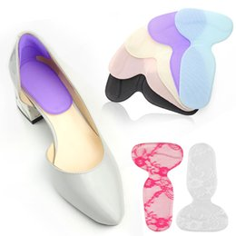 Chaussures talons en forme de t en Ligne-T-forme talon haut poignées doublure soutien de voûte plantaire chaussures orthotiques insérer des semelles pied talon protecteur coussin coussins pour femmes