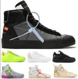 Blazers de lujo online-2019 Mid Blazers one Zapatos para correr Hombres Mujeres Diseñador de lujo Zapatos Black Forces Serena Williams 1 All Hallows Eve Airing Sneakers