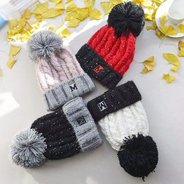 women warm crochet hat Promo Codes - Fashion Knitted Pompom Hat Creative Woman Winter Warm Crochet Beanie Cap Outdoor Soft Ball Ski Hat TTA1728