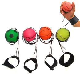 Juguetes fluorescentes online-Aleatorio más Estilo Juguetes divertidos Bouncy Fluorescente Bola de goma Muñequera Bola Juego de mesa Divertido Elastic Ball Training Antistress lol
