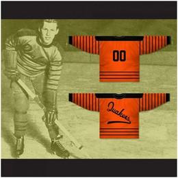 jogador de hockey Desconto Personalizado XS-5XL Filadélfia Quakers 1930-31 Orange Hockey Jersey Ponto Costurado Qualquer Jogador ou Número Frete Grátis