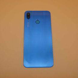 Caméra arrière d'origine en Ligne-Quatrième de couverture pour Huawei P20 Lite / Pièces de rechange Nova 3F Retour Batterie couverture porte boîtier + cadre caméra vitre d'exposition Trempé