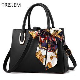 bag female with silk scarf Women 2019 fashion pu leather litchi portable  big bag Ladies shoulder Female handbag sac a main litchi bag for sale 76dd172072cce