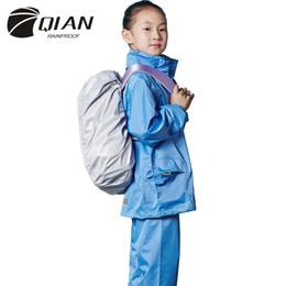 2019 celos de plástico berço Qian Rainproof Impermeável Crianças Capa de Chuva Escola Impermeável Crianças Casaco Meninos / meninas Engrenagem Poncho Calças Jaqueta de Chuva Q190531