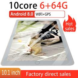 2019 huawei carte unique 10,1 pouces Android 8.0 Tablet Android Octa base MTK6582 RAM 6 Go ROM 64 Go 4G Double Carte SIM Téléphone 4G Wifi Appel TablettesPCs 2020
