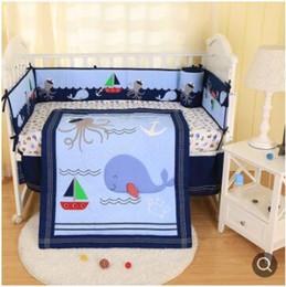 Юбка детской кроватки онлайн-Новый бренд Baby Cuna Одеяло для мальчика шпаргалки постельные принадлежности набор счастливый океан шпаргалки бампер набор 7 шт. детское одеяло бампер юбка матрас крышка