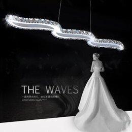 levou luz água lâmpada de mesa Desconto lâmpadas lustre de LED criativo personalidade onda de água de jantar lustre bar bar candeeiro de mesa restaurante iluminação simples lustre de cristal