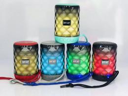 2020 alto-falante bluetooth hy 5 W Portátil Mini Alto-falantes Bluetooth Sem Fio Mãos Livres LED Speaker TF USB Música de Som FM Para iPhone X Samsung Telefone Móvel HY-47 alto-falante bluetooth hy barato