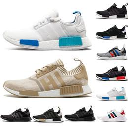 91154491a NMD R1 Primeknit PK Perfect Womens Sneakers Triple white Beige Fashion  Brand Men Running Shoes Runner Primeknit Sneakers designer shoes