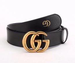 f78cfe7ad Cinturón de cuero nuevo 2019 para hombres y mujeres cinturón de moda 3.4 de  ancho y 3.8 ancho de dos tamaños de cinturón negro.