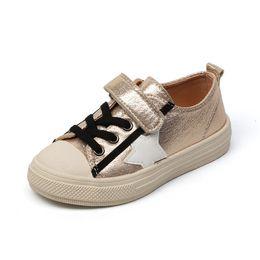 Argentina 2019 Niñas pequeñas Zapatos de niño de PU Cuero Shining Stars Zapatillas de deporte de niña pequeña Kinder Schoenen 3-6 años niñas cheap shining star shoes Suministro
