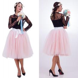2019 senhora antimossa Senhoras Meninas Branco Preto Tulle underskirt Curto joelho Crinoline Rockabilly Petticoat Fast Shipping CPA837 2020 desconto senhora antimossa