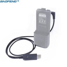 Cargador uv 5r online-Radio de jamón Cable de cargador USB Baofeng con luz indicadora para Walkie Talkie BaoFeng UV-5R Batería de extensión BF-UVB3 Plus Radio de jamón