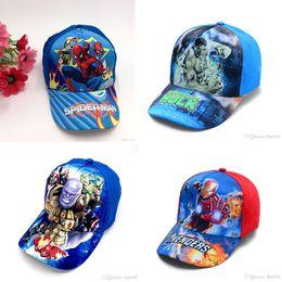 Trollmütze online-Kinder Caps 30 Design Marvel Avengers Spiderman Trolle Hüte Caps Kinder Baseball Caps Jungen Mädchen Cartoon Prinzessin Sonnenhüte