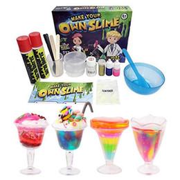 material de juguetes de espuma Rebajas DIY Kit de limo Haz tu propio juguete de ciencia de Slime Kids Snot Slime Gloop Juego sensorial