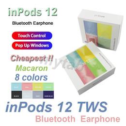 Renkli inpods 12 inpods12 i12 Macaron 8 renk Bluetooth kablosuz TWS kulaklık pencereler Akıllı Telefon Spor Kulaklık kulakiçi dokunma açılır nereden aşırı kanca kulaklık mikrofon kulaklıkları tedarikçiler