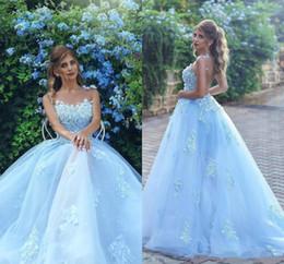 2019 vestidos de fiesta frontales divididos Atractivo ver a través de Volver Vestidos de baile de Sheer Partido desfile cuello apliques de encaje vestidos de noche una línea vestido de novia barato