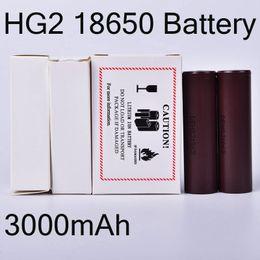 2019 3.7v batería de iones de litio aa 3000mAh Hg2 18650 35A batería de litio recargable de la linterna antorcha lámpara Flat Top calidad superior FJ752