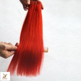 trama remy malese dei capelli ricci marroni Sconti Colore rosso 10-30 pollici capelli lisci brasiliani che tessono 100% capelli umani Weavinvg 6a estensioni dei capelli vergini
